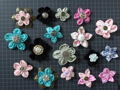 DIY Stoffblumen basteln einfach und schnell