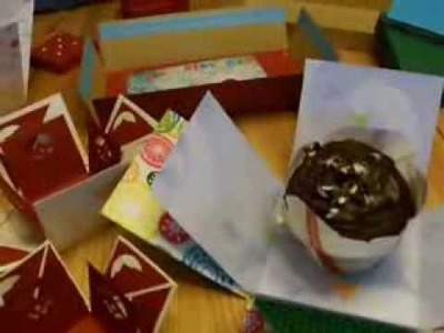 Explosionsbox basteln - Tolle Muffin-Verpackung