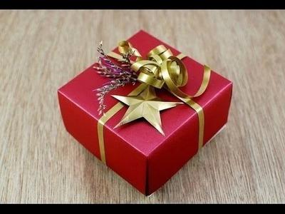 Geschenkbox selber basteln. Geschenkbox selber machen. Geschenkbox basteln.