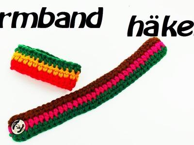 Häkeln Armband  - mehrfarbig -  im Trend!