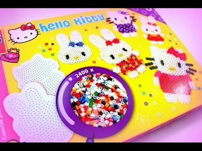 Hello Kitty Bügelperlen SES Kreativ-Set für Kinder Spielzeug Basteln mit Kindern SES unboxing