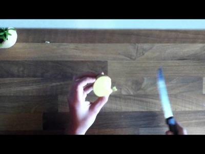 Kartoffeldruck - Stempel aus Kartoffel basteln