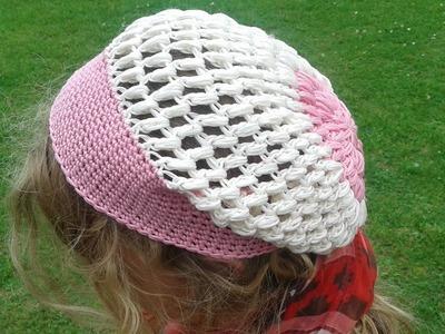 Mütze häkeln - mit Büschelmaschen