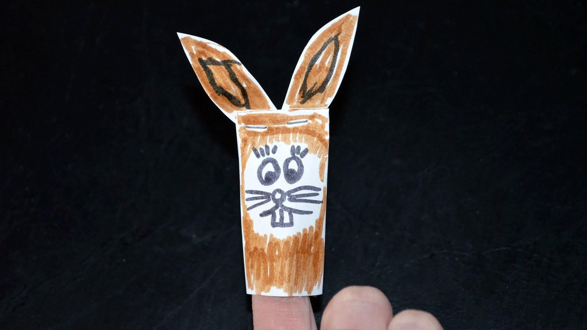 Ostern: Fingerpuppe Osterhase basteln
