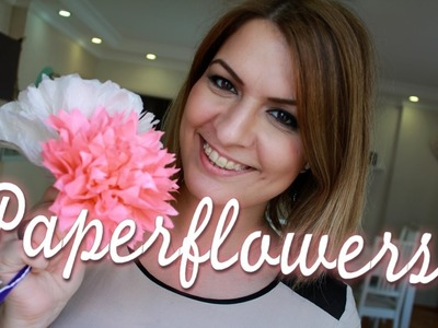 Paperflowers DIY - Blumen aus Papier -super Muttertagsgeschenk