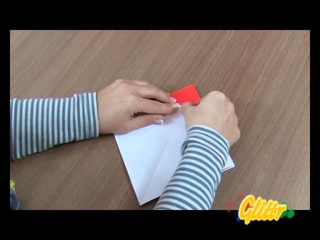 Papier falten Weihnachtsmann bzw. Nikolaus