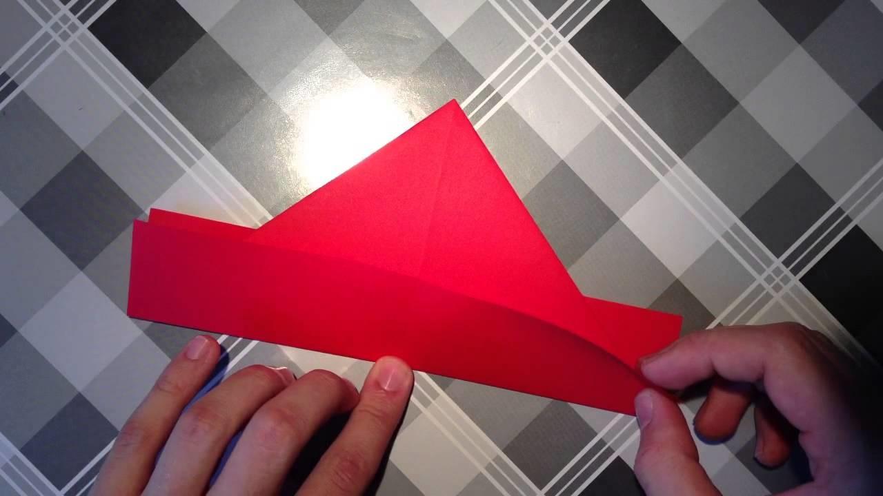 Papierschiff basteln. Origami Schiff falten