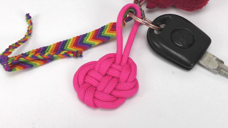 Paracord Herz Schlüsselanhänger selber machen Knoten - easy heart keychain DIY. Anleitung deutsch