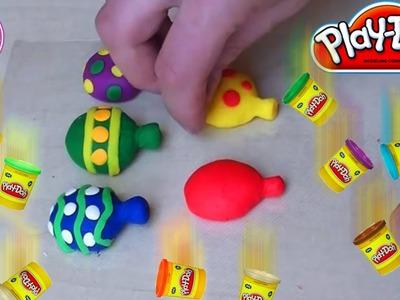 Play-Doh spielen - Bunte Luftballons aus Knetmasse basteln - Knete