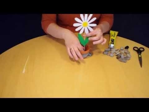 Schritt für Schritt: Filzblume basteln zum Muttertag