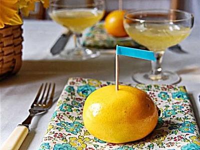 Sommerdeko selber basteln -- Tolle Ideen mit Zitronen für den Tisch
