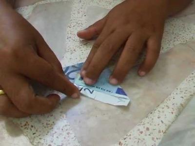 Weihnachten und Advent Geldgeschenke basteln Geldschein falten zum verschenken