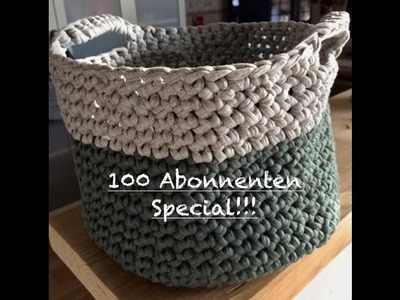 100 Abo Special: Körbe. Korb häkeln aus Zpagetti Textilgarn