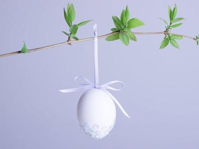 DIY | Confetti Dipped Easter Egg | Ostereier aufhängen | Osterdekoration selber machen | chestnut!