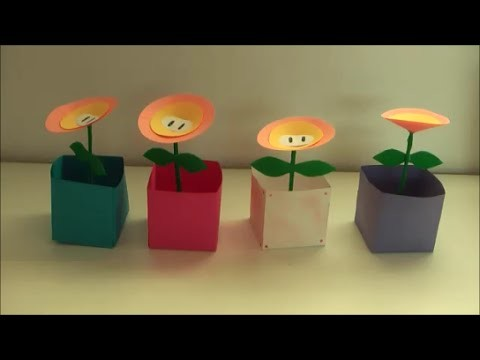 DIY: Feuerblumen Super Mario Nintendo basteln