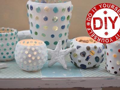 DIY: Funkelnde Mosaikwindlichter ★ Deko Inspirationen Selbstgemacht