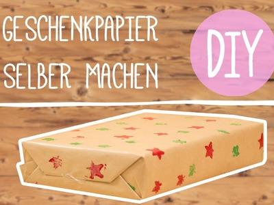 DIY mit Nina: Geschenkpapier selber Basteln!