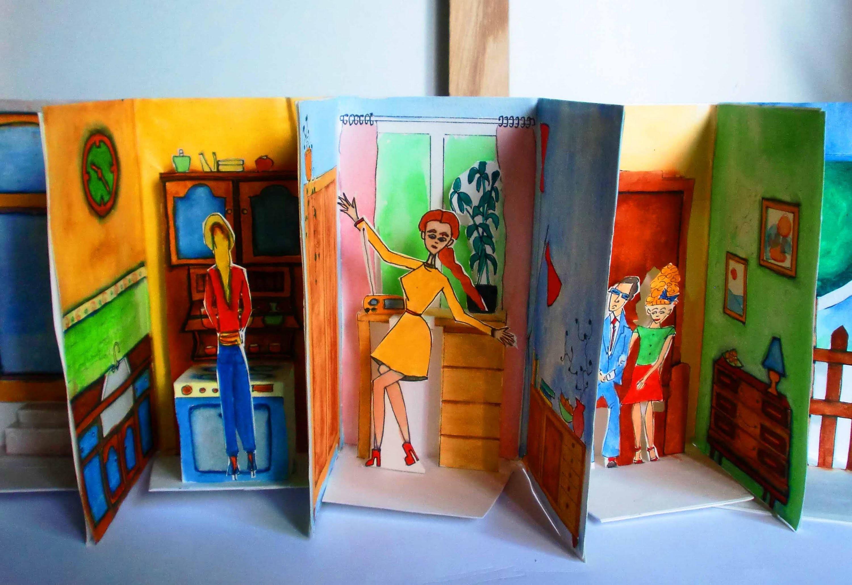 Einfaches Papier-Puppenhaus basteln