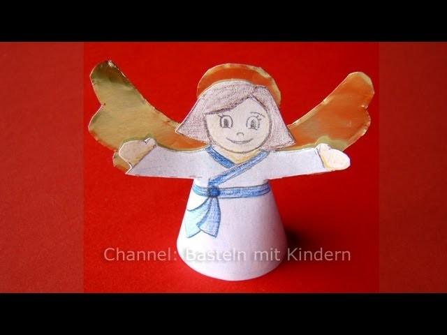 Engel Basteln - Weihnachtsengel basteln mit Papier