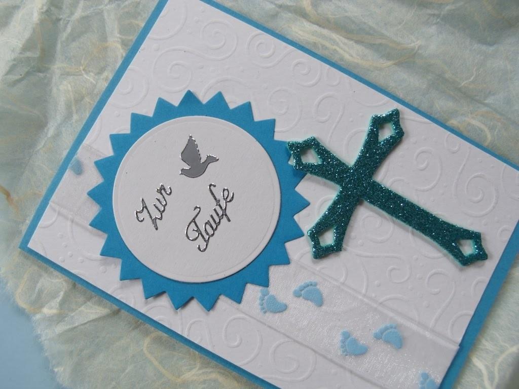 Karte zur Taufe für einen Jungen selber machen. cardmaking