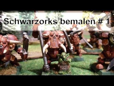 Lets paint Minis # 9 Bemal Tutorial - Schwarzorks bemalen für Warhammer Fantasy