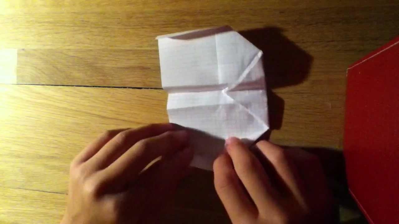Papierflieger falten - Flugzeug Origami basteln