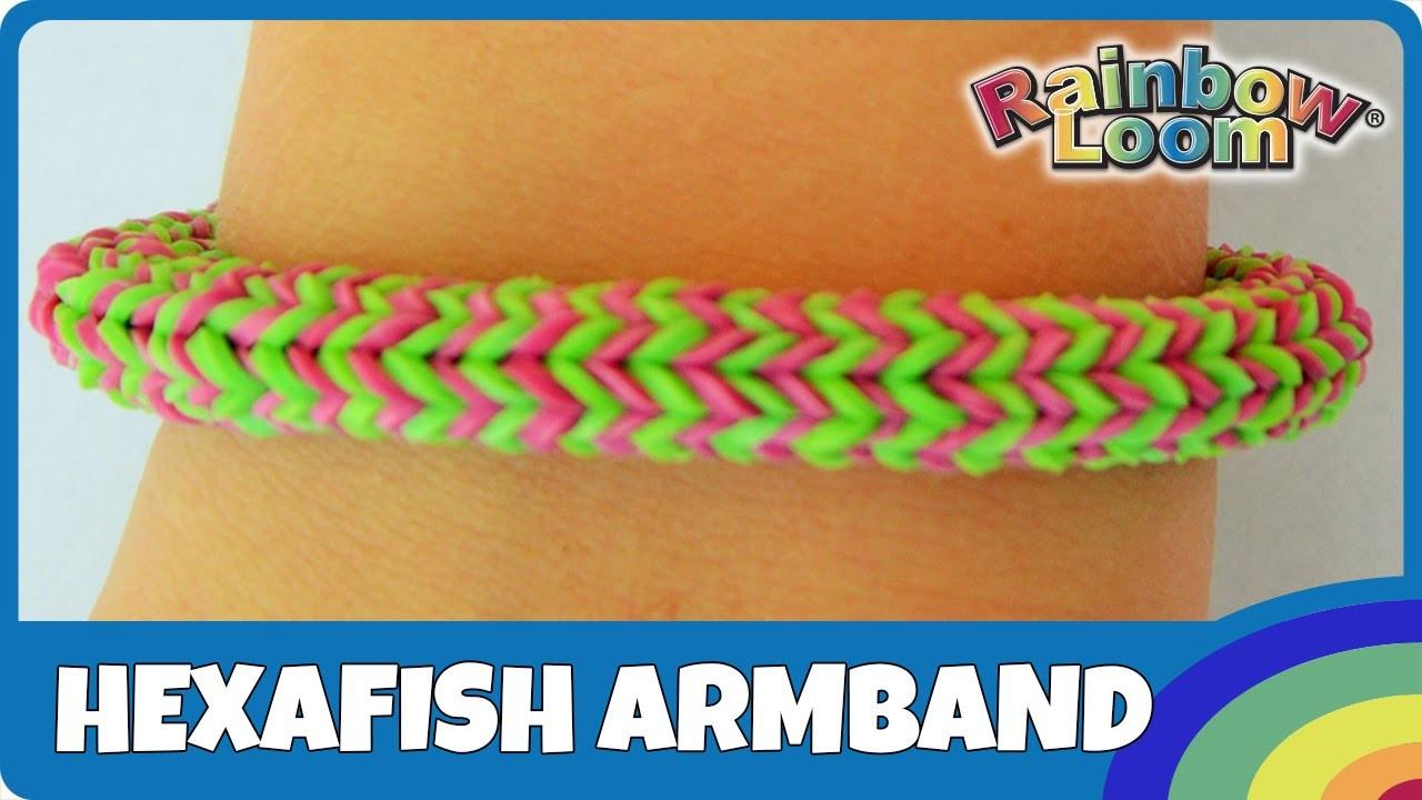 Rainbow Loom Hexafish-Armband - deutsche Anleitung