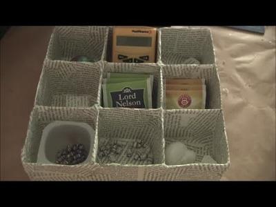 Schachtel Teebox Schmuckbox DIY selbermachen basteln Upcycling Alte Bücher und Milchpackungen