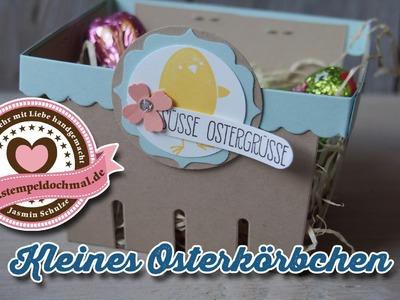 Tutorial: Osterkörbchen basteln mit Produkten von Stampin' Up!