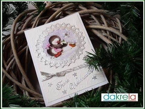 Weihnachtskarte basteln. Christmas cardmaking # 4