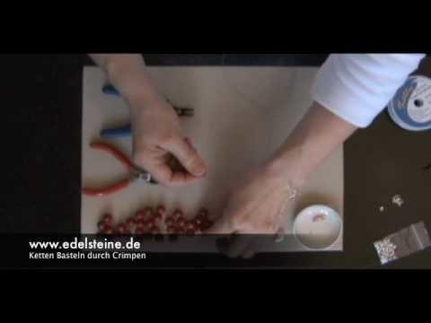 Anleitung: Ketten Basteln, Schmuck Zubehör Crimps zum Schmuck Basteln