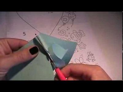 Anleitung  - Mobile mit Herzen aus Papier falten 1