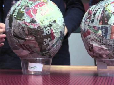 Basteln für Ostern: Nester aus Pappmaschee
