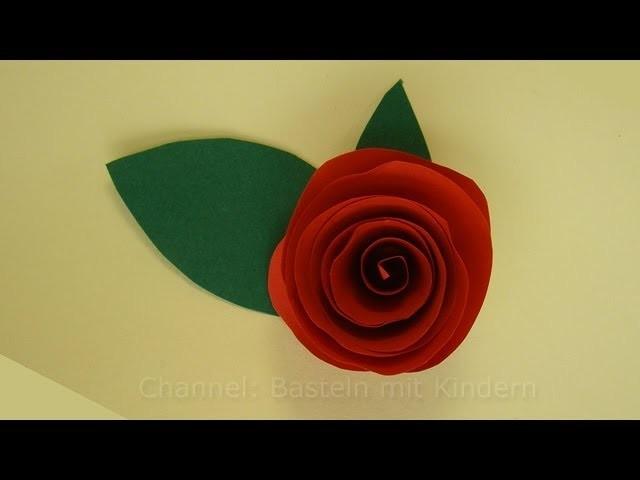 Blumen basteln: Rosen basteln mit Papier - DIY Bastelanleitung