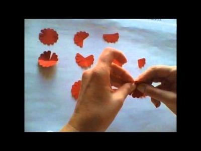 Blüten basteln mit der Wellenkreisstanze Teil 3