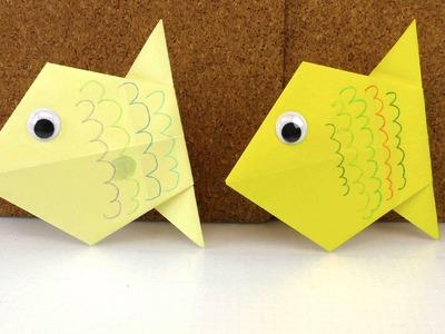 DIY Origami deutsch einfach - Wie falte ich einen Fisch aus Papier Anleitung