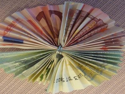 Geldschein falten ❁Geldschein Blume aus 15 € ❁ Deko Ideen mit Flora-Shop
