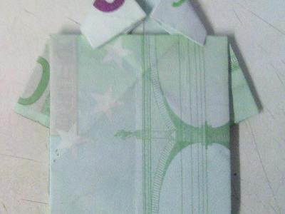 Geldschein zum Hemd falten - Origami-Anleitung - kreatives Geldgeschenk!