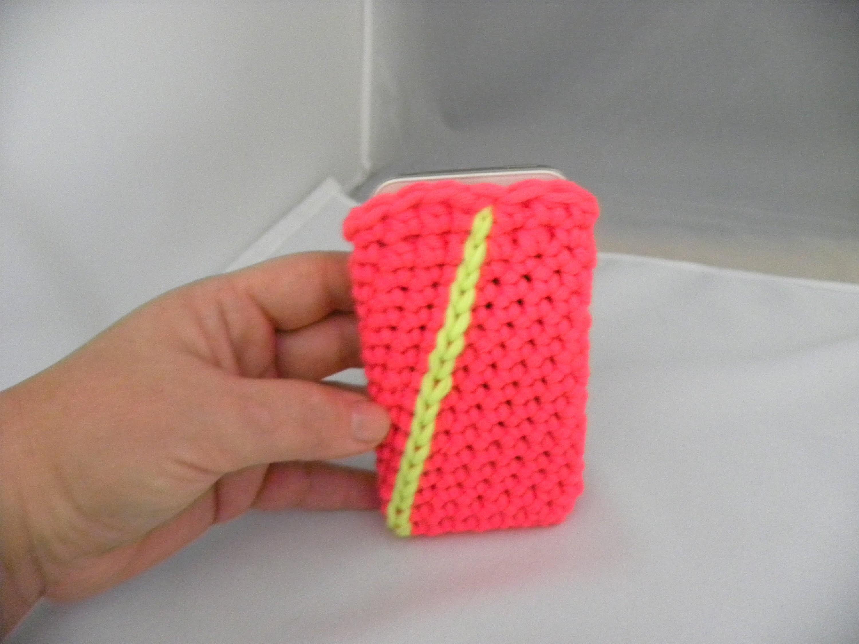Häkeln - Hülle für iPhone oder Handy - aus hatnut XL von Pro Lana