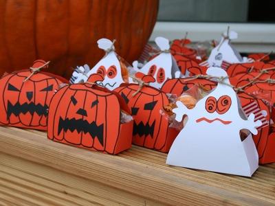 Mitgebselboxen für Halloween basteln