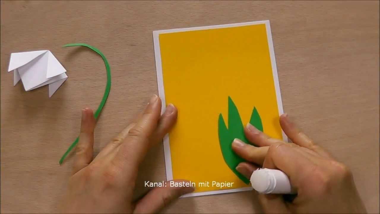 Osterkarten basteln - Bastelideen Frühling - Karte selber machen