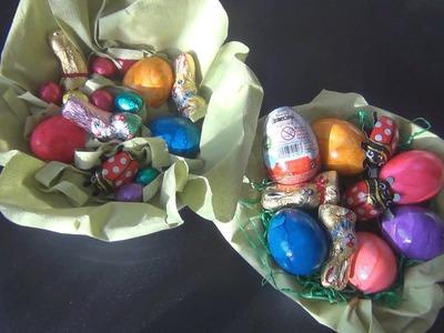 Ostern: Einfaches Osternest basteln
