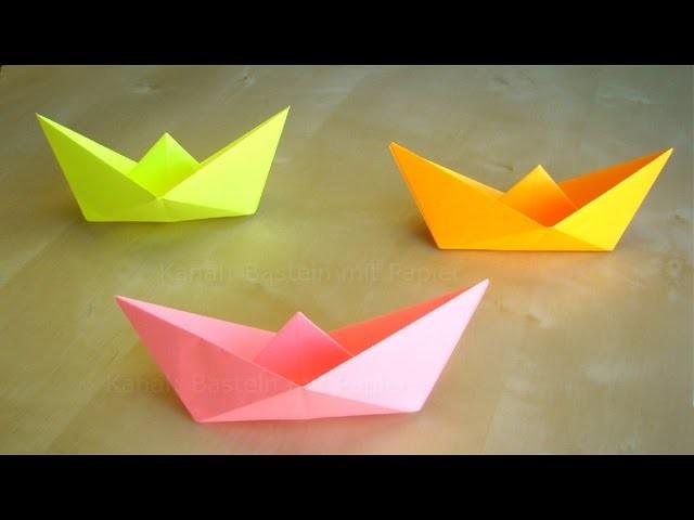 Papierschiff falten - Basteln mit Kindern - Leichtes Origami - Basteln Ideen