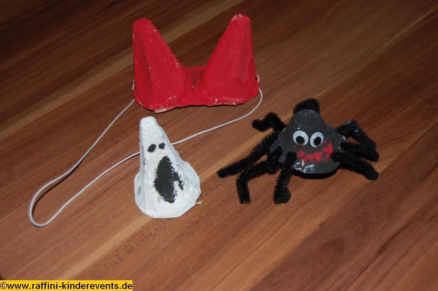 Recycling Basteln mit Kindern Teil 02 - Halloween Geister von Raffini Kinderevents