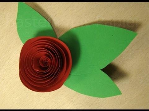 Rosen basteln mit Papier - Anleitung zum Blumen basteln. Basteln Ideen