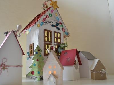 Süße Deko-Häuser [tutorial, selber machen, basteln mit Papier] Deutsch