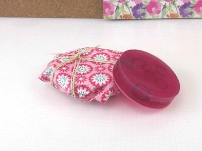 Verpackung basteln - Geschenkverpackung für Seife selber machen