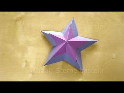 Weihnachtssterne basteln - 3D Sterne basteln