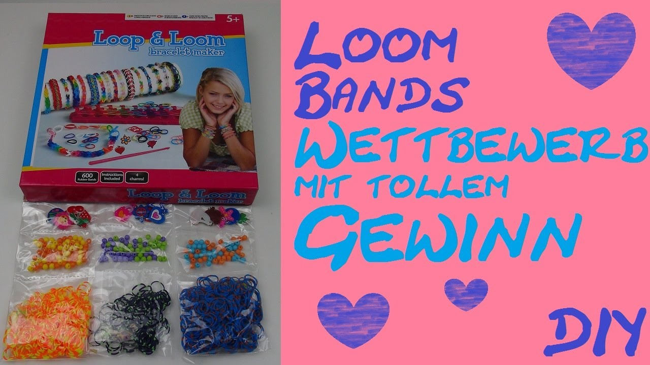 DIY Loom Bands Verlosung. Gewinnspiel. Wettbewerb Loom Bandz