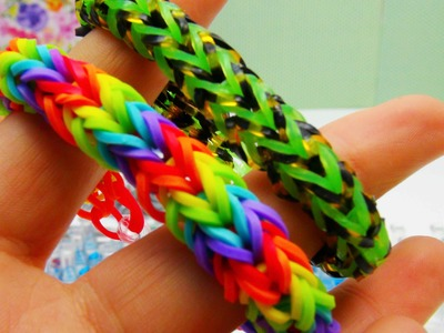 Dragonscale Fishtail Bracelet. Armband Rainbow Loom Dragon Scale Fishtail Anleitung | deutsch